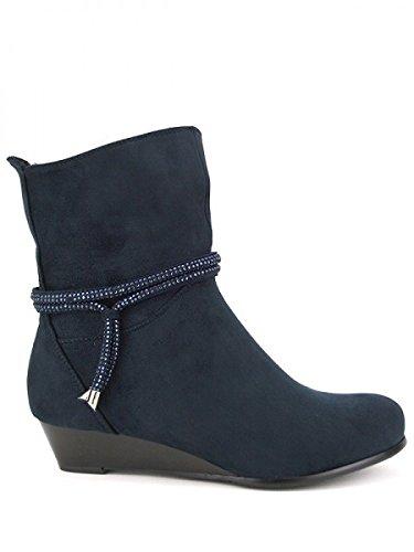 Cendriyon, Bottine blue Grande pointure KAOLI Chaussures Femme Bleu