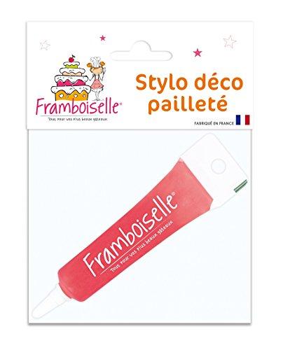 Framboiselle Décor Gel Pailleté Rose - Lot de 4
