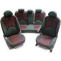 Kia Rio II JB Sedán Equipamiento de asientos Asiento Acondicionamiento interior Tela negro rojo