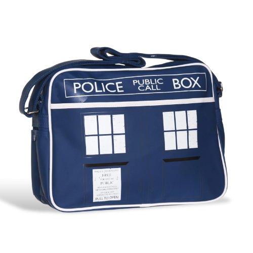 Doctor Who - bolso bandolera de la TARDIS - cartera retro - serie de televisión - formato enorme para DIN A4