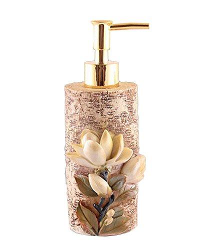 Résine Belle Shampooing Distributeur de savon Lotion Bouteille Fleur
