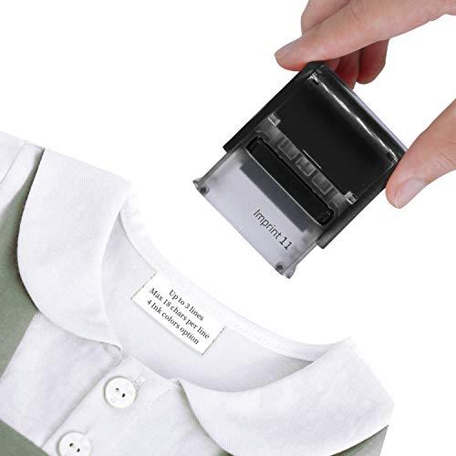 Timbro personalizzato per abbigliamento, 38 x 14 cm, timbro autoinchiostrante in gomma, disponibile in 3 colori