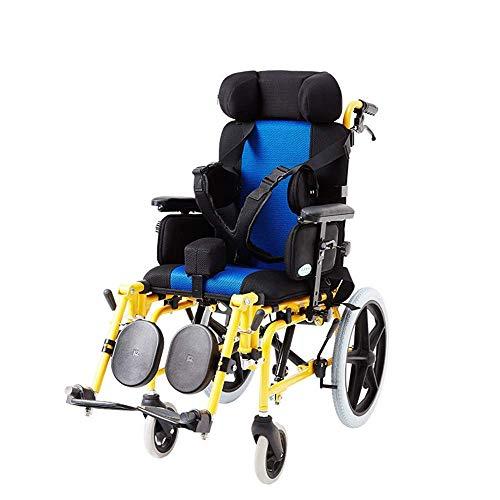 BOBO Kinderrollstühle 20Kg Transport Medizinische Ergonomische Erweiterte Komfortable Armlehne Verstellbare Rückenlehnen Beine 90Kg Tragkraft 40 * 36Cm Sitz für die Kinder Stuhl/A