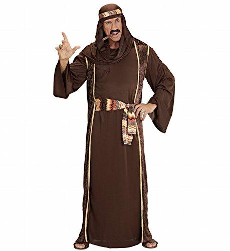 Widmann 44043 - Erwachsenenkostüm Arabischer Scheich - Tunika, ärmelloser Mantel, Gürtel und Turban, Größe L, (Kostüm Arabo)