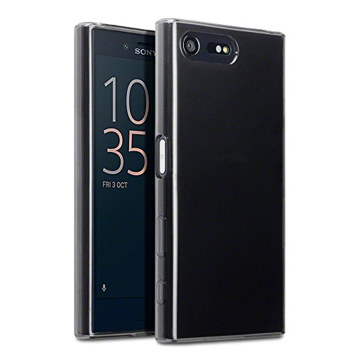 Sony Xperia X Compact Cover, Terrapin TPU Schutzhülle Tasche Case Cover für Sony Xperia X Compact Hülle Transparent Schwarz