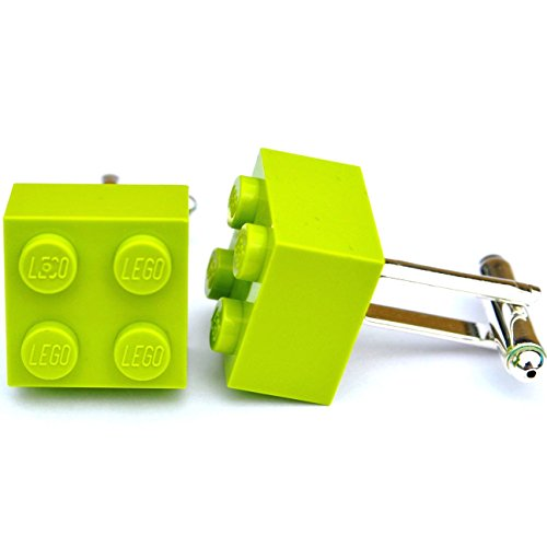 Gemelli mattoncini Lego® (Verde Lime) matrimonio, sposo, regalo per uomo