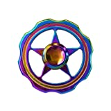 HAND SPINNER / TOUPIE CRAZYCHIC Multicouleur Arc en Ciel en Metal Brillant - Rotation...