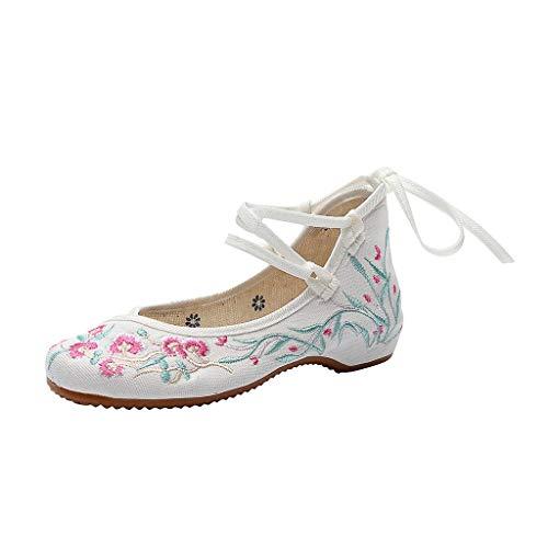 iHENGH Shoes Women Pantofola Vintage Casual Scarpe Donne San Valentino Scarpa Donna Peep-Toe Shoes Women Ragazza Estate Regalo Rosso