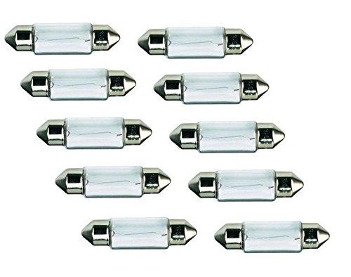 Lima 01275 10 x Lampe navette Stylet 36 mm Ampoule C5 W 5 W 12 V