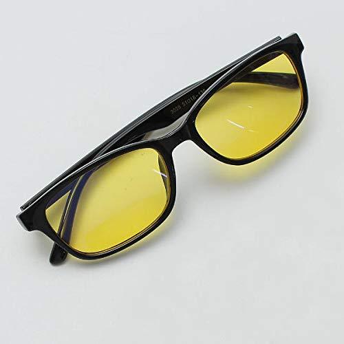 TuToy Schwarze Safty Brille Strahlung Uv Schutz Brillen Anti-Müdigkeit Brille - Schwarzer Rahmen