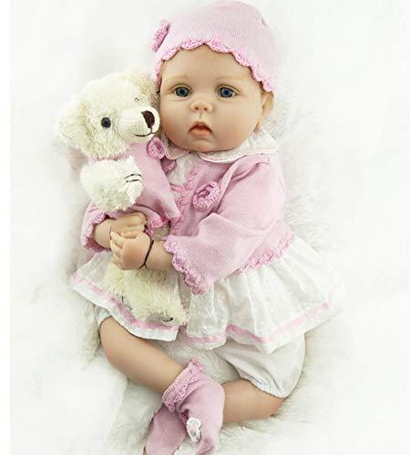 ZIYIUI Handmade Réaliste Reborn Baby Doll Fille en Sillicone Bébé Poupée Nouveau-née Réaliste 55 cm/22inch