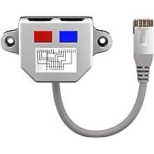 Goobay 68908 Cable Splitter, Network Doubler, CAT Y-Adapter, Grey