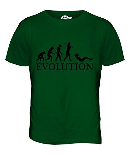 CandyMix Sit-Up Evolution Des Menschen Herren T Shirt Flaschengrün