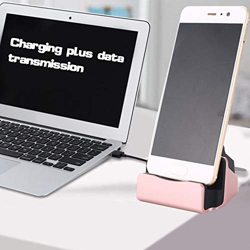HibiscusElla USB2.0 Type-C Phone Charger Fast Charging Dock Station Desktop Docking Charger Cradle Stand Support Data Sync Sync Cradle Dock Station