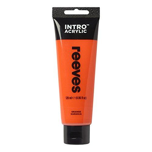 "Reeves 3012150 \""Intro Acrylic\"" Acrylfarbe, Lichtecht, hoch Pigmentiert, trocknet Seidenmatt, 120ml Tube - Orange"