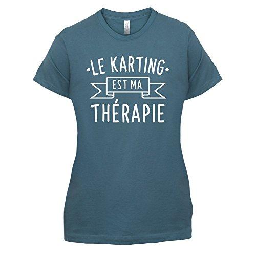 Le karting est ma thérapie - Femme T-Shirt - 14 couleur Bleu
