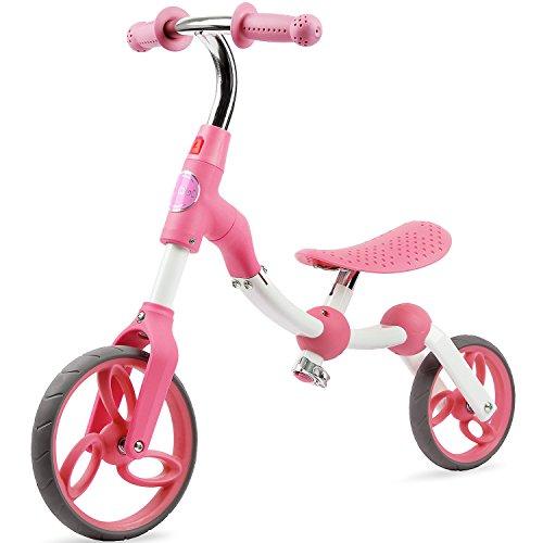 Vokul Gh06 Kid Balance Bike Toddler Toys Bike for Age 2-5, No Pedal, Height 95-120cm … (Rosa)
