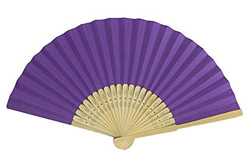 rangebow PHF11violett 10Stück Großhandel von Papier Elegante Hand Fan Bambus Rippen Hochzeit Teil für Geschenk
