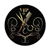 Orologio da Parete Decorativo Grande 9.8'Pollici VIP Salone di Bellezza e Parrucchiere Forbici Ornamento Simbolo Orologio da Parete Vintage