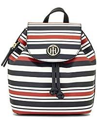 Tommy Hilfiger - Bolso mochila  de Pvc para mujer azul, blanco Small