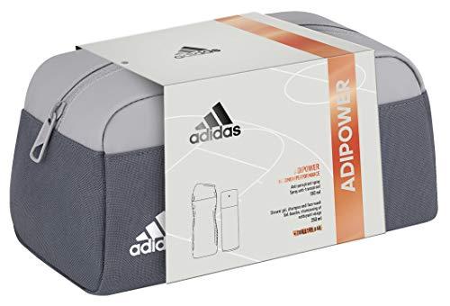 adidas Adipower für ihn Geschenkset Anti-Perspirant-Deodorant + Duschgel + Kulturbeutel, 386 g