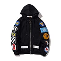 Bape element 2019 new casual cardigan pattern printed cotton Pullover long sleeve youth fashion cardigan jacket (XL)