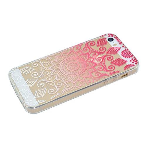 Coque iPhone SE 5 / 5S , IJIA Ultra-mince Transparent Chatons Mignons Gris Noir TPU Doux Silicone Bumper Case Cover Shell Housse Etui pour Apple iPhone SE 5 / 5S XX38