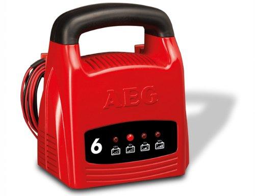 AEG 97001 Caricabatteria LK 1206, 6 Ampere per batterie da 12 V, CE, IP 20