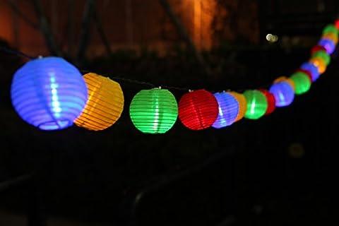 Uping 20LED Waterproof Solar Fairy Lights Lanterns of 8 Modes