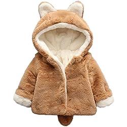 Ropa Bebé , Amlaiworld Bebé niño niña de otoño invierno encapuchados abrigo capa chaqueta gruesa ropa caliente 0-36 Mes (Tamaño:12-18Mes, Caqui)