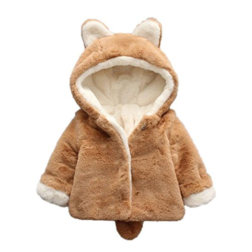 Ropa Bebé , Amlaiworld Bebé niño niña de otoño invierno encapuchados abrigo capa chaqueta gruesa ropa caliente 0-36 Mes (Tamaño:6-12Mes, Caqui)