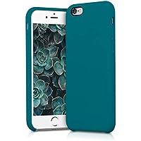 kwmobile Coque Apple iPhone 6 / 6S - Coque pour Apple iPhone 6 / 6S - Housse de téléphone en Silicone pétrole Mat