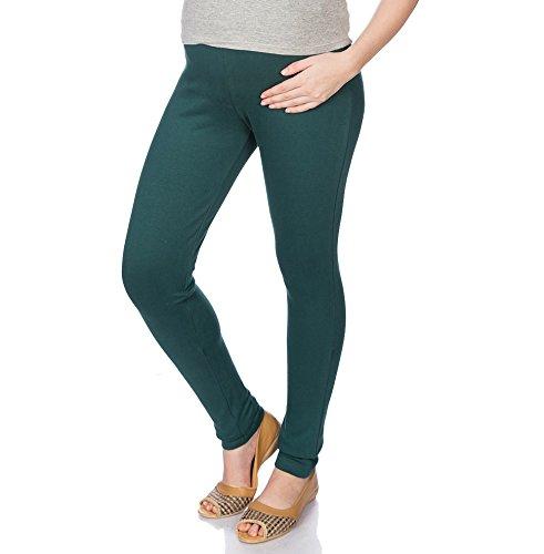 Goldstroms Women's Maternity Pant/Legging (Bottle Green, 2XL)