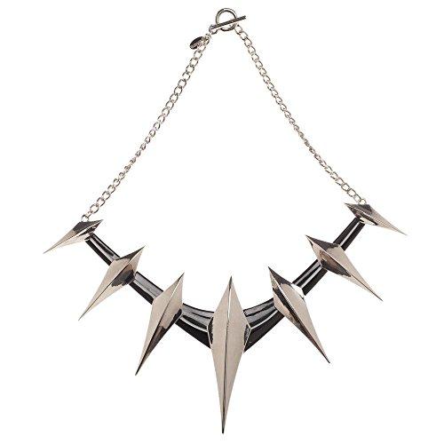 Bioworld Merchandising / Independent Sales Black Panther Spike Cosplay Collar Necklace ()