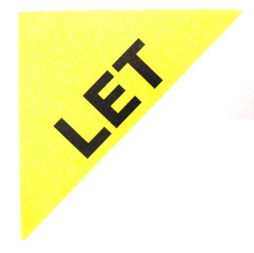 Etiquetas Para Viviendas En Venta , texto: LET , Amarillo , Triángulo Grande , Inmuebles & Alquileres Agente pegatinas autoadhesivas