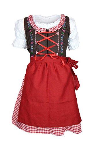 MS-Trachten Kinder Dirndl Tracht Trachtenkleid Anne 3 teilig