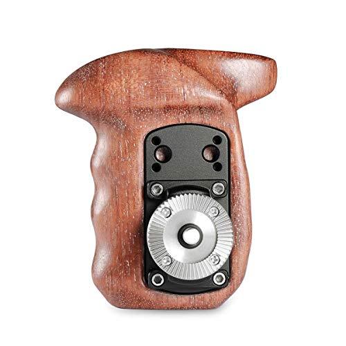 SMALLRIG Rechte Hand Handle Kit Holz Kamera handgriff mit Rosette Kompatibel mit Kamera Cage - 1941 (Cage Griff)