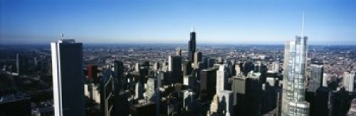 Panoramic Images – Skyscrapers in a city Trump Tower Chicago Cook County Illinois USA 2011 Photo Print (45,72 x 15,24 cm) (Illinois Chicago Trump Tower)