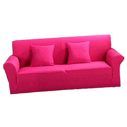 KESOTO 2-Sitzer Sesselschoner Sesselhusse Stretchhusse Sofabezug, Auswahl - Pink