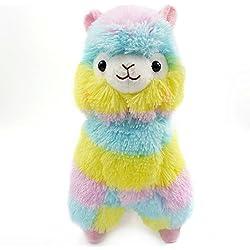 Logobeing Colorido Kawaii Alpaca Llama Arpakasso regalo de muñeca de peluche suave juguetes lindos (Colorful)