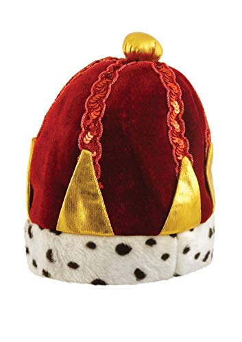 Islander Fashions Erwachsene Gold Velour Royal King Crown Hut Herren Kost�m Party Hut Zubeh�r One ()
