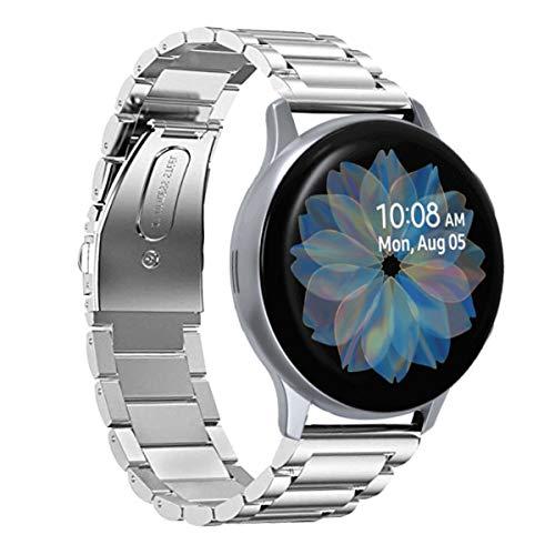 SPGUARD Compatible avec Bracelet Samsung Galaxy Watch Active2 40mm/Bracelet Galaxy Watch Active 2 44mm, Bracelet de Métal en Acier Inoxydable