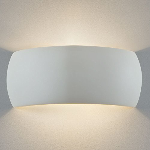 Plaster wall lights amazon astro lighting 7073 milo 1 light ceramic wall light uplighter downlighter lighting aloadofball Gallery