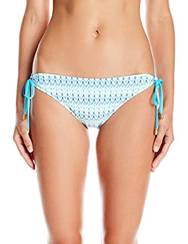 Helen Jon Women's Beachcomber Reversible Tunnel Hipster Bikini Bottom, Blue/Multi, Small