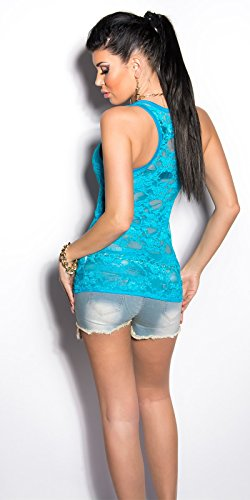 In-Stylefashion - Débardeur - Femme Turquoise - Turquoise