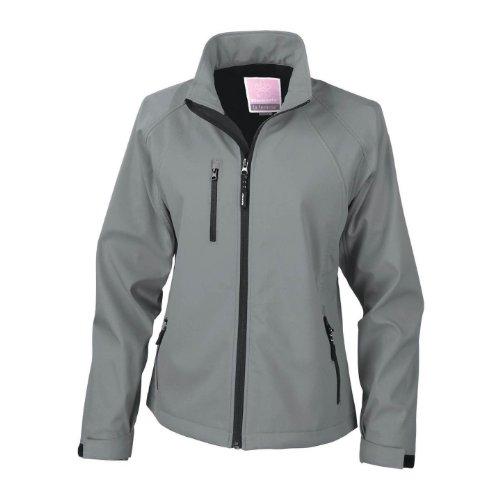 Result Damen La Femma® Softshell-Jacke, 2-lagig, atmungsaktiv, winddicht Schwarz
