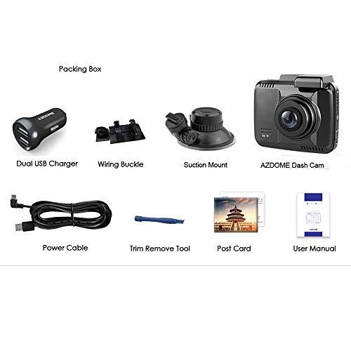 Boman Armaturenbrett Kamera, Dash Kamera Auto DVR Recorder Dash Cam 4K Eingebauter GPS WiFi Dual Rear Lens Fahrzeug Kamera Camcorder Nachtsicht Kamera,32g