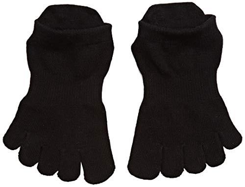 Toe Sox Männer und Frauen 1 Paar Ausführliche Toe Organic Cotton Low Rise Yoga Socks In Black 9-10,5 Unisex Schwarz (Yoga-ausrüstung Für Frauen)