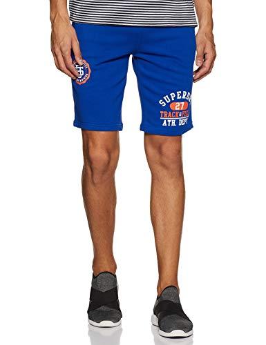 Superdry Herren Track & Field LITE Shorts, Blau (Electric Blue 3eb), 48 (Herstellergröße: M) -