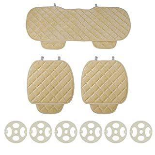 3PCS / Set Universal Komfortabler Platz weicher Baumwolle Auto-Sitzkissen Vorderseite Rückseite Sitzbezüge Auto-Stuhl-Auflage-Matten-Auto Supplies